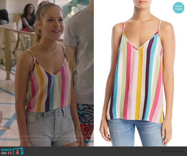 Rainbow-Stripe Cami by Aqua worn by Samantha Hughes (Holly Barrett) on Life in Pieces