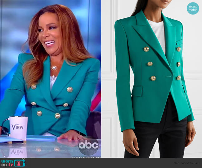 Button-embellished Blazer by Balmain worn by Sunny Hostin  on The View