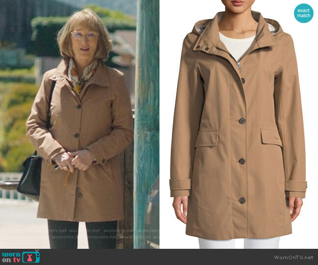 Barbour Kirkwall Jacket with Removable Hood worn by Mary Louise Wright (Meryl Streep) on Big Little Lies