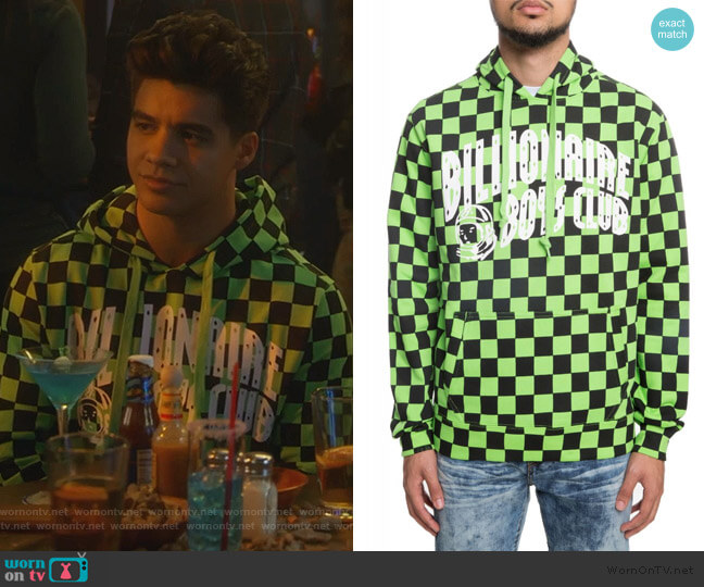 Grand Prix Hoodie by Billionaires Boys Club worn by Vivek Shah (Jordan Buhat) on Grown-ish
