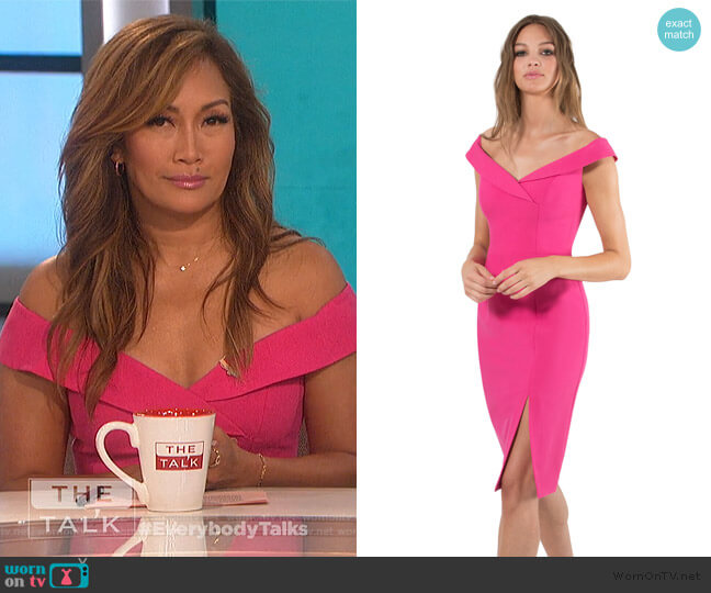 Hepburn Sheath by Black Halo worn by Carrie Inaba  on The Talk