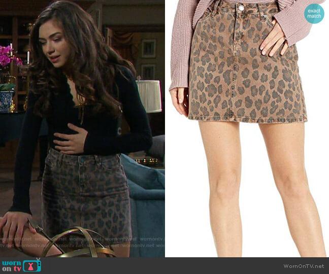 Cheetah Printed Mini Skirt by BlankNYC  worn by Ciara Brady (Victoria Konefal) on Days of our Lives