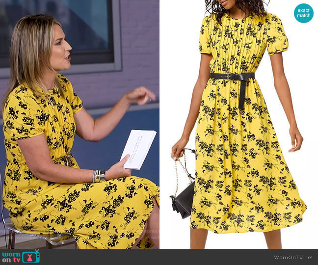 Botanical Pintucked Dress by Michael Michael Kors worn by Savannah Guthrie  on Today