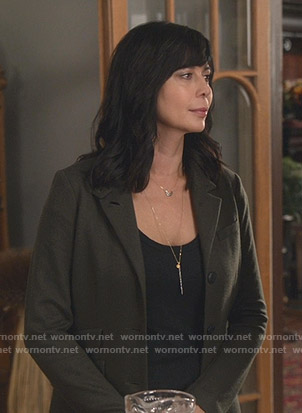 Cassie's green blazer on Good Witch