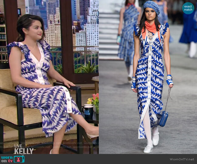 Chanel Resort 2019 Collection worn by Selena Gomez on Live with Kelly and Ryan