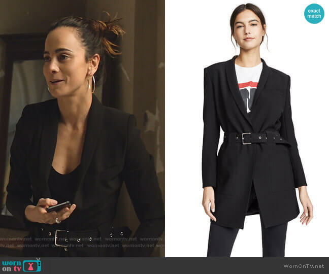 Charlotte Blazer by Anine Bing worn by Teresa Mendoza (Alice Braga) on Queen of the South