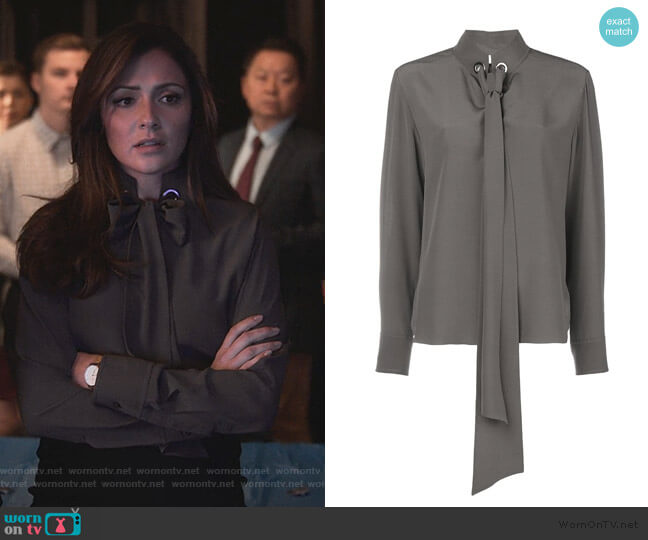 Tie-Neck Blouse by Chloe worn by Emily Rhodes (Italia Ricci) on Designated Survivor