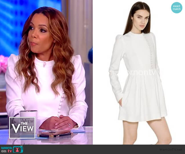 Scallped crepe mini Dress by Chloe worn by Sunny Hostin  on The View