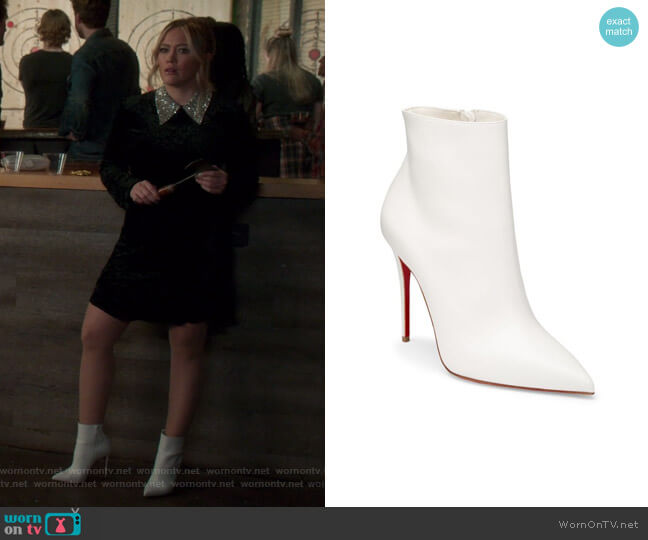 So Kate 100 Leather Ankle Boots by Christian Louboutin worn by Kelsey Peters (Hilary Duff) on Younger