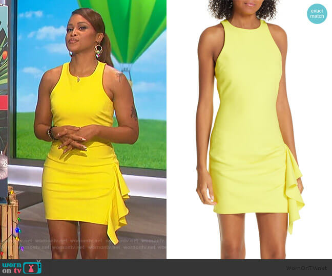 Makayla Dress by Cinq a Sept worn by Eve  on The Talk