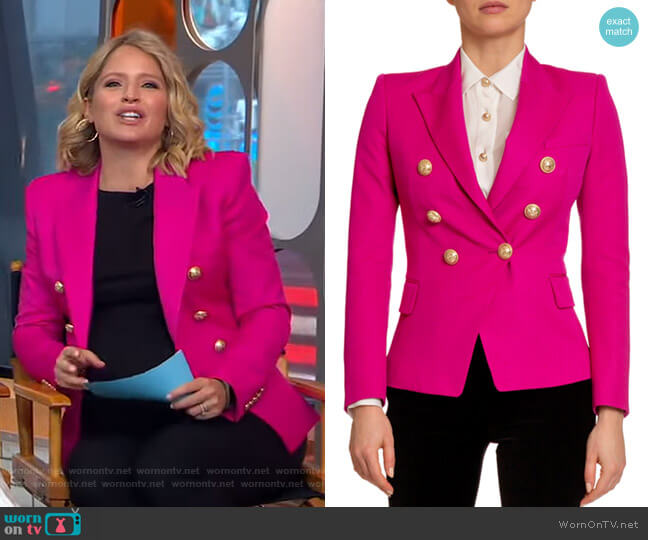 Classic 6-Button Blazer by Balmain worn by Sara Haines  on Good Morning America