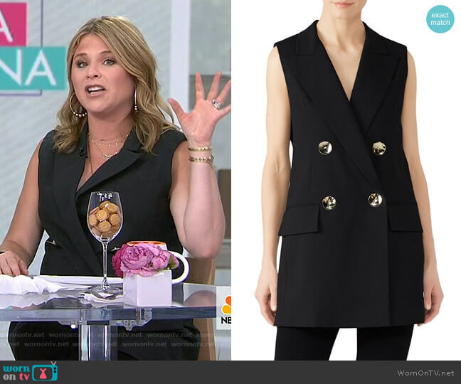 Double Breasted Vest by Co worn by Jenna Bush Hager  on Today