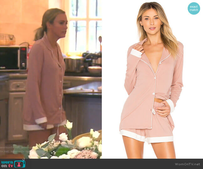 Bella Bridal PJ Set by Cosabella  worn by Teddi Mellencamp Arroyave  on The Real Housewives of Beverly Hills
