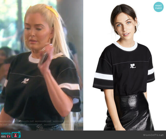 Oversized Logo T-Shirt by Courreges worn by Erika Girardi  on The Real Housewives of Beverly Hills
