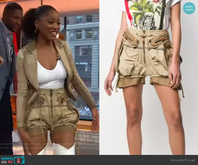 Operation Seroja Balloon Shorts by DSQUARED2 worn by Keke Palmer  on Good Morning America