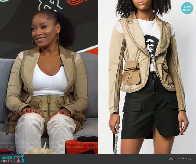 Operation Seroja Jacket by DSQUARED2 worn by Keke Palmer  on Good Morning America