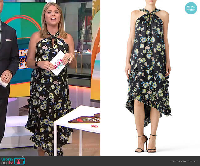 Floral Halter Dress by Derek Lam 10 Crosby worn by Jenna Bush Hager  on Today
