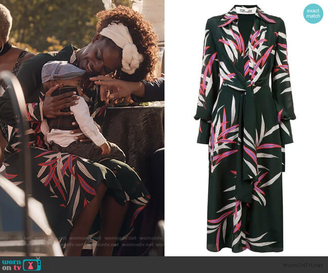 Plunge Front Wrap Dress by Diane von Furstenberg worn by Angela Archer (Samantha Marie Ware) on What/If