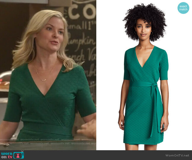 Sweater Wrap Dress by Diane von Furstenberg worn by Stephanie Borden (Kylee Evans) on Good Witch
