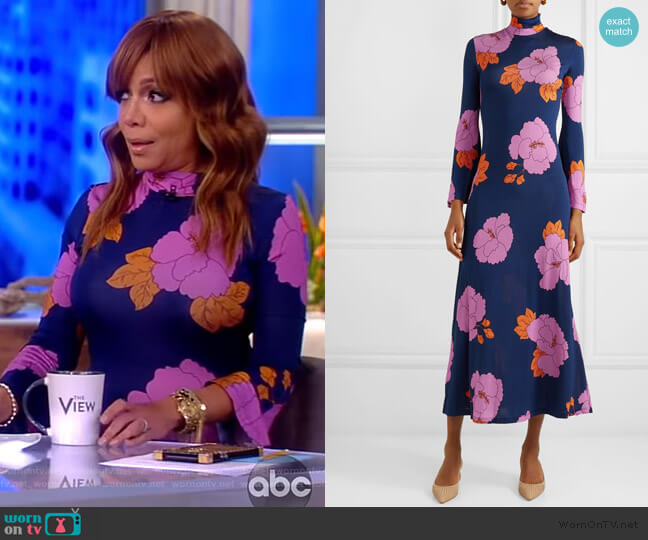 Brigitte floral-print stretch-jersey dress by Dodo Bar OR worn by Sunny Hostin  on The View