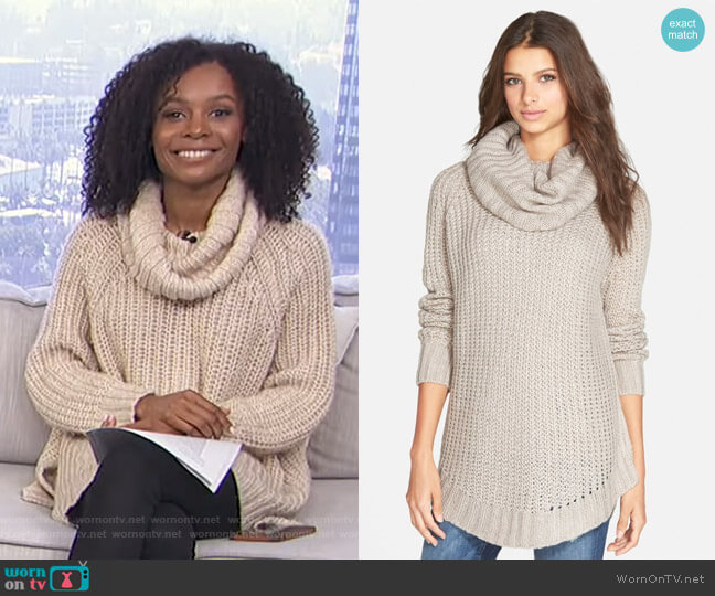 Cowl Neck Sweater by Dreamers by Debut worn by Zuri Hall  on E! News