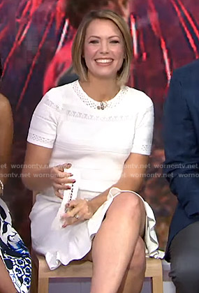 Dylan's white pointelle knit dress on Today