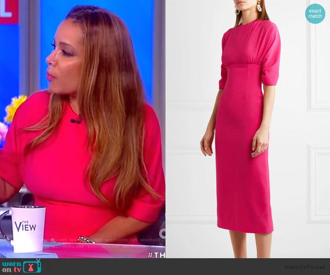 Helga cloque midi dress by Emilia Wickstead worn by Sunny Hostin  on The View