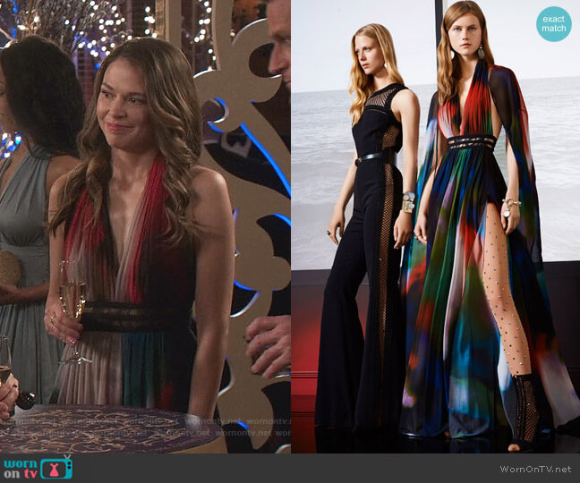 Resort 2018 Collection by Elie Saab worn by Liza Miller (Sutton Foster) on Younger
