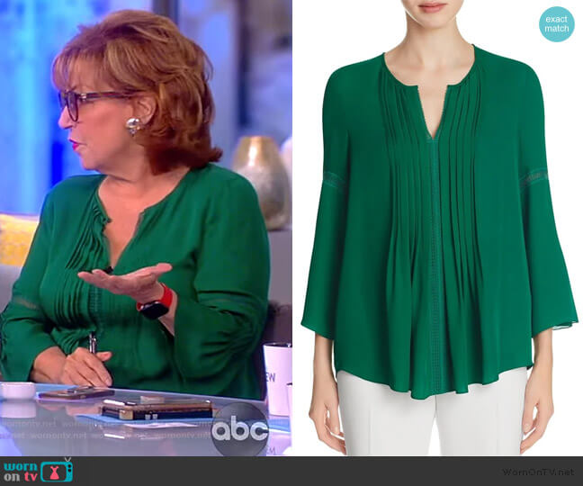 Orion Pleated Blouse by Elie Tahari worn by Joy Behar  on The View