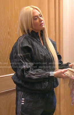 Erika's Adidas nylon pullover and pants on The Real Housewives of Beverly Hills