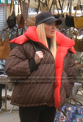 Erika's Fendi puffer jacket on The Real Housewives of Beverly Hills