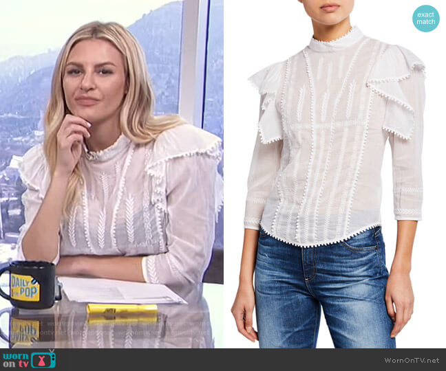 Anny Blouse by Isabel Marant Etoile worn by Morgan Stewart  on E! News