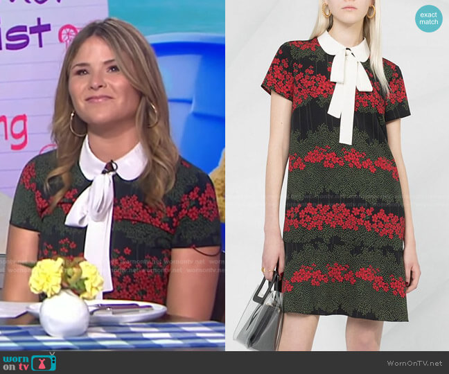 Floral Print Dress by RED Valentino worn by Jenna Bush Hager  on Today