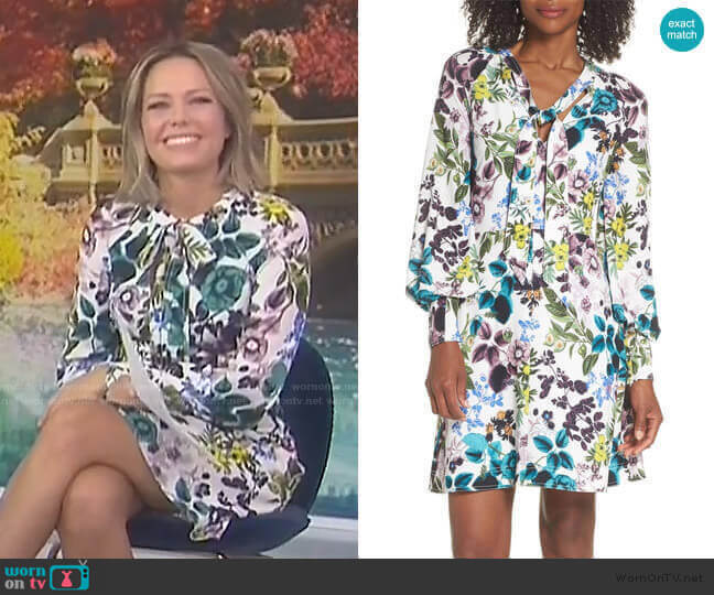 Floral Tie Neck Dress by Eliza J worn by Dylan Dreyer  on Today