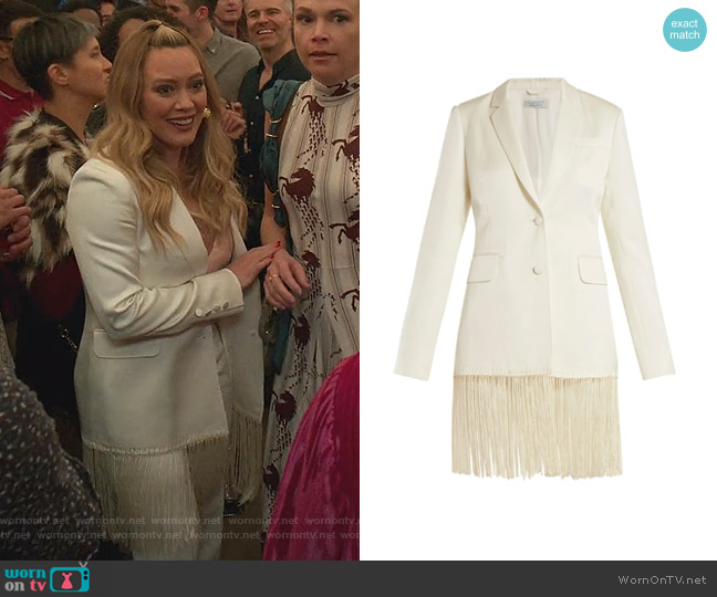 Jose Fringed Blazer by Gabriela Hearst worn by Kelsey Peters (Hilary Duff) on Younger