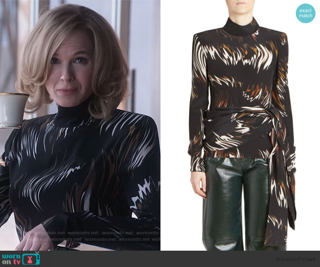 Abstract Print Blouse by Givenchy worn by Anne Montgomery (Renee Zellweger) on What/If