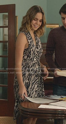 Grace's printed zip front dress on Good Witch