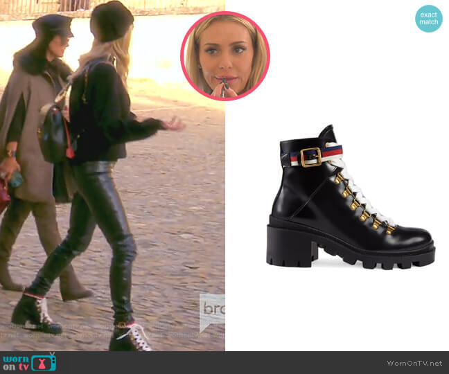 Trip Lug Sole Combat Boot by Gucci worn by Dorit Kemsley  on The Real Housewives of Beverly Hills