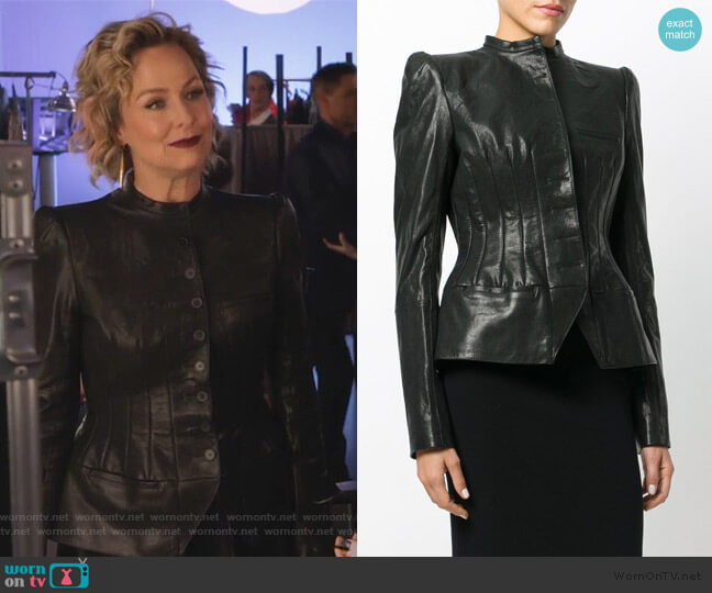 Fitted Biker Jacket by Haider Ackermann worn by Jacqueline (Melora Hardin) on The Bold Type