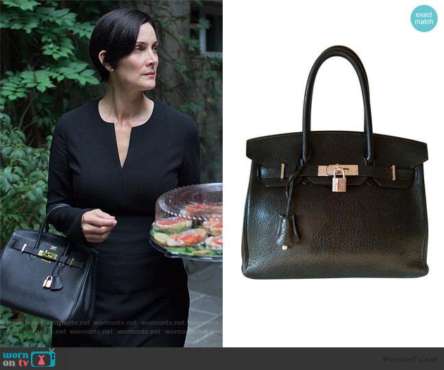 Birkin 30 Bag by Hermes worn by Jeryn Hogarth (Carrie-Anne Moss) on Jessica Jones