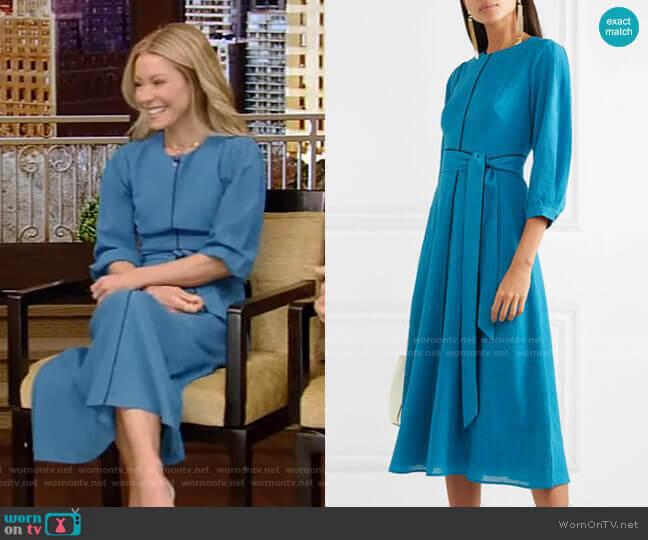 Isabel Midi Dress by Cefinn worn by Kelly Ripa  on Live with Kelly & Ryan
