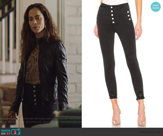 Natasha Sky High Jeans by J Brand worn by Teresa Mendoza (Alice Braga) on Queen of the South