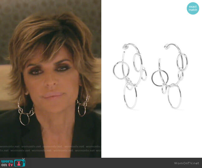 Quad Hoops Earrings by Jennifer Fisher worn by Lisa Rinna  on The Real Housewives of Beverly Hills