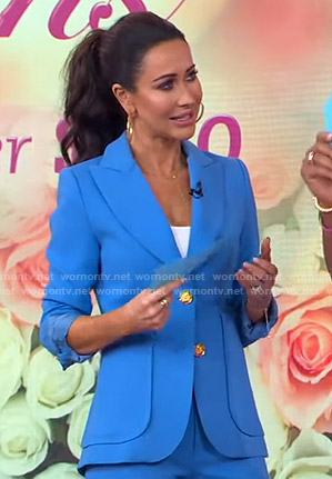 Jessica Mulroney's blue blazer on Good Morning America