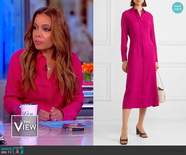 Turner ribbed silk dress by Joseph worn by Sunny Hostin  on The View