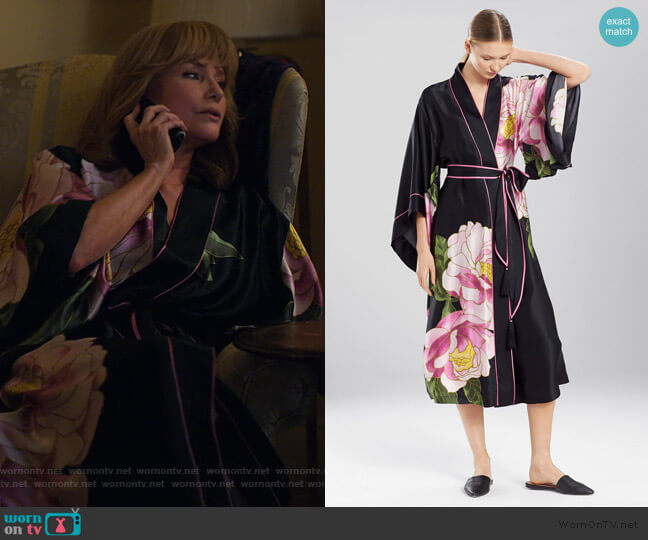 Clair De Lune Robe by Josie Natori worn by Dorothy Walker (Rebecca De Mornay) on Jessica Jones