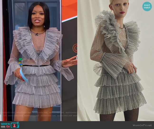 AW18 Collection by Kalmanovich worn by Keke Palmer  on Good Morning America
