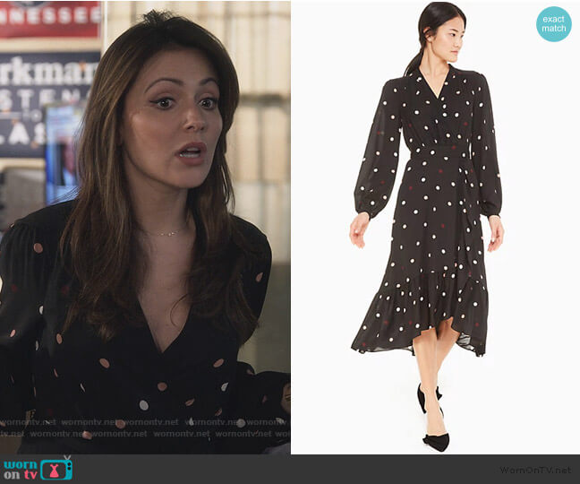 Bakery Dot Wrap Dress by Kate Spade worn by Emily Rhodes (Italia Ricci) on Designated Survivor