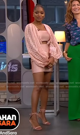Keke's pink balloon sleeve dress on Good Morning America