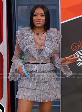 Keke's polka dot ruffled dress on GMA Strahan And Sara